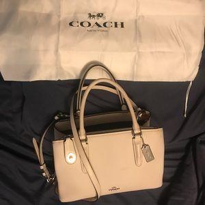 Coach multi compartment shoulder bag